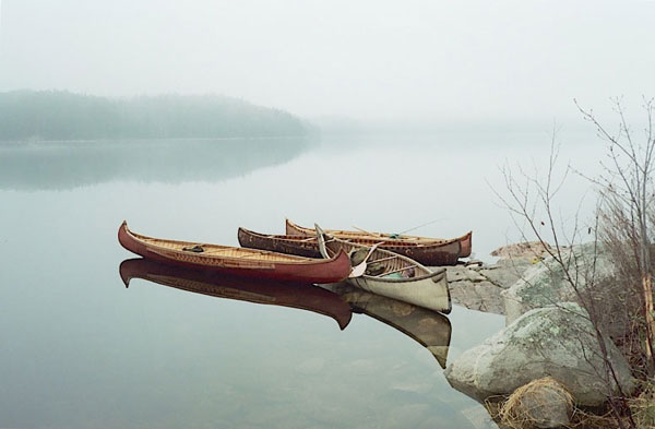 birch bark canoes made by Ferde goode