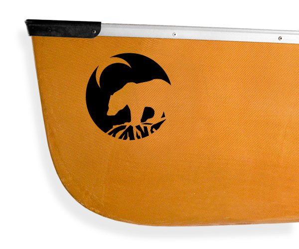 grizzly bear crescent moon Kanuyak Decals and Stickers for Canoes, Kayaks, cars and trucks
