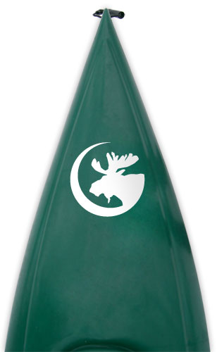 bull moose crescent moon Kanuyak Decals and Stickers for Canoes, Kayaks, cars and trucks