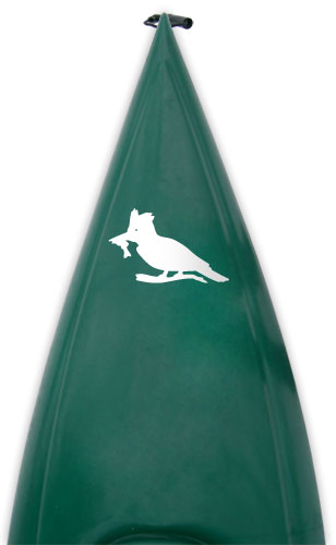 fishing kingfisher Kanuyak Decals and Stickers for Canoes, Kayaks, cars and trucks