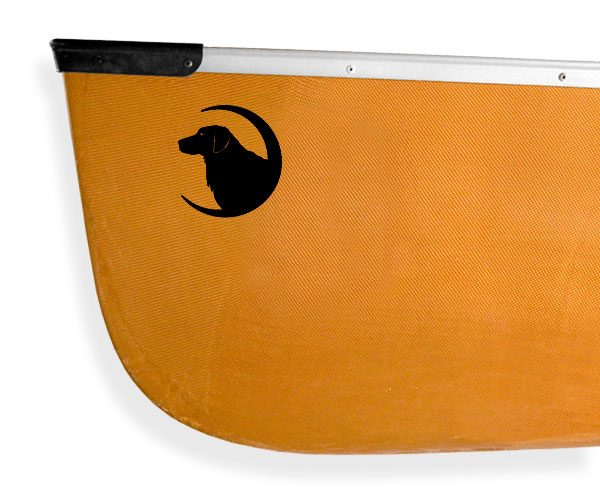 golden retriever black lab crescent moon Kanuyak Decals and Stickers for Canoes, Kayaks, cars and trucks