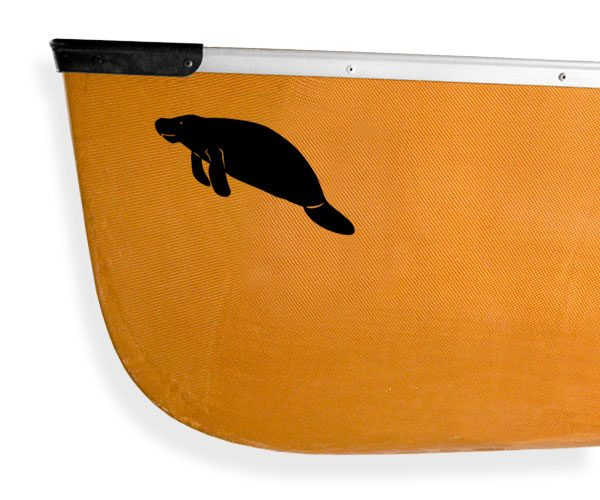 Florida Manatee Kanuyak Decals and Stickers for Canoes, Kayaks, cars and trucks