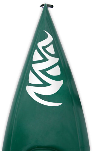 Pine cone style Kanuyak Decals and Stickers for Kayaks