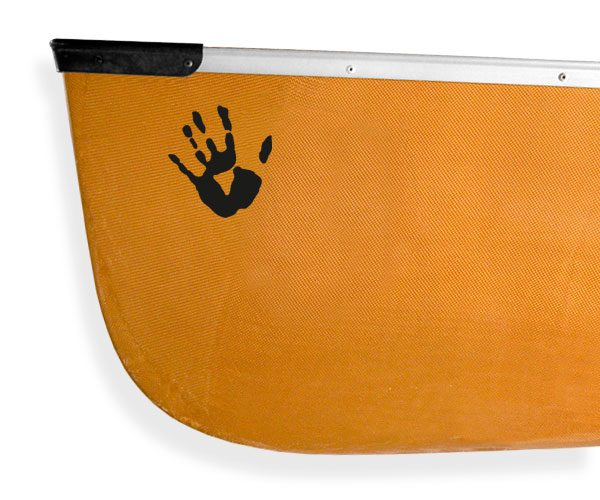 Tribal hand print Kanuyak Decals and Stickers for Canoes, Kayaks, cars and trucks