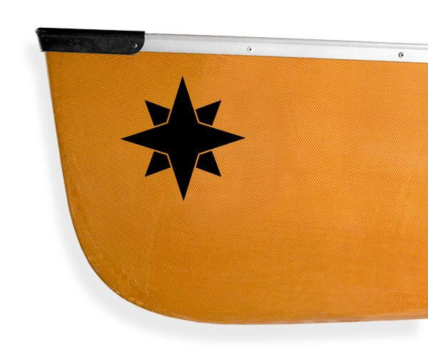 Passamaquoddy star design Kanuyak Decals and Stickers for Canoes, Kayaks, cars and trucks
