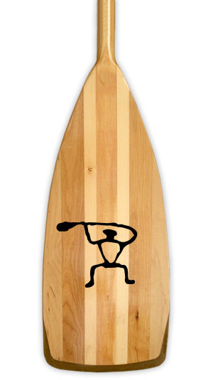 Tribal Petroglyph canoe paddler Kanuyak Decals and Stickers for Canoes, Kayaks, cars and trucks