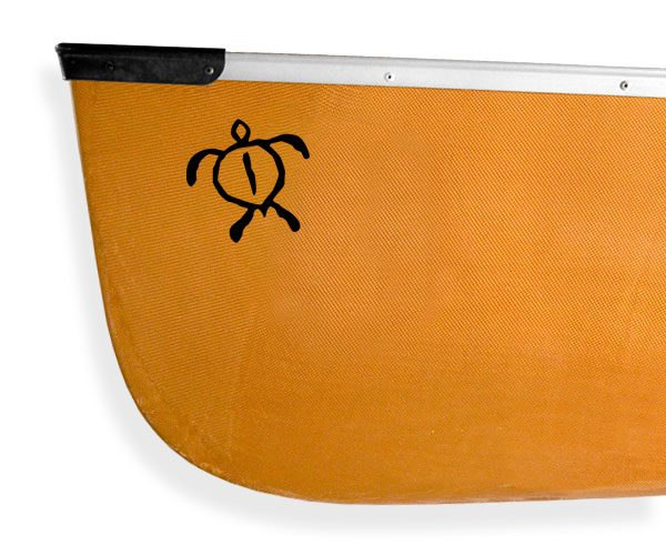 Tribal Petroglyph Sea Turtle Kanuyak Decals and Stickers for Canoes, Kayaks, cars and trucks