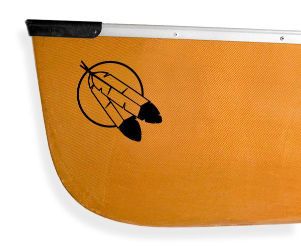 eagle feathers moon Kanuyak Decals and Stickers for Canoes, Kayaks, cars and trucks