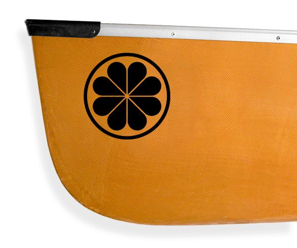 Voyageur canoe flower Kanuyak Decals and Stickers for Canoes, Kayaks, cars and trucks